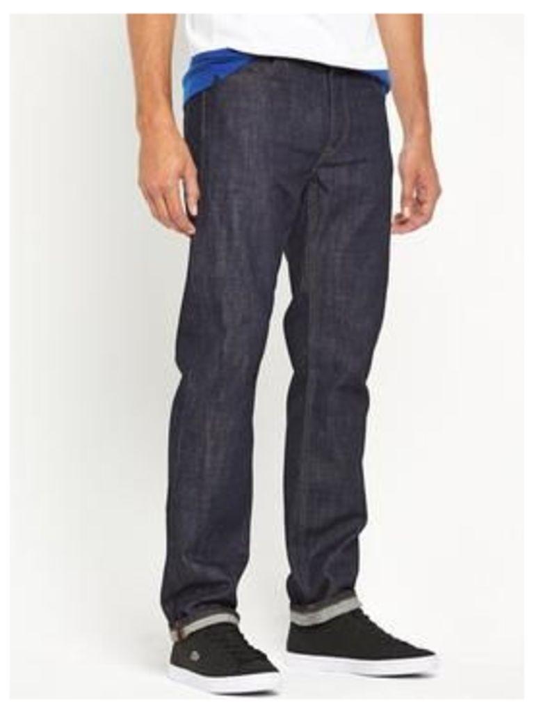 Lacoste Sportswear Mens Straight Leg Jeans, Rinse Wash, Size 34, Men