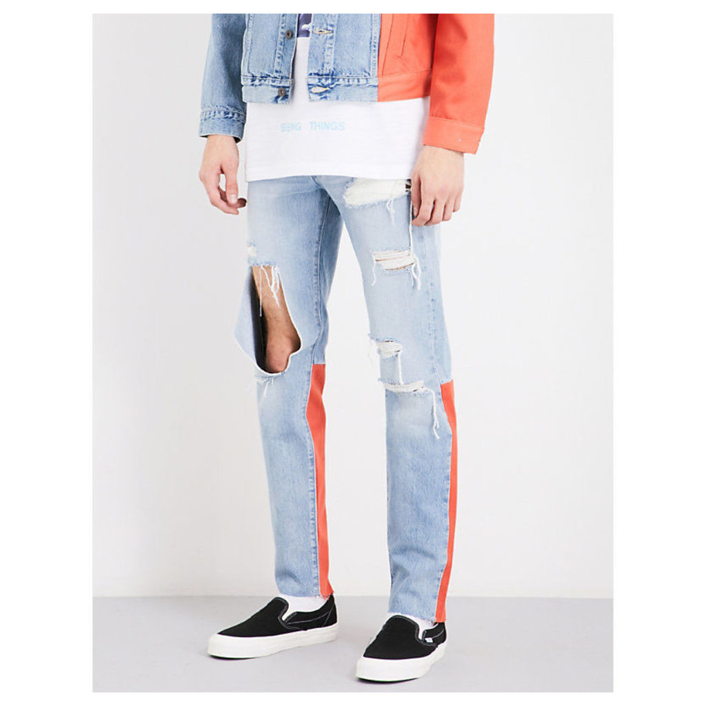 Off White c/o Virgil Abloh x Levi's Made & Crafted slim-fit skinny jeans