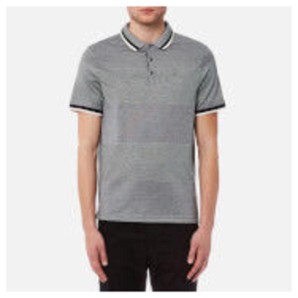 Michael Kors Men's Birdseye Feeder Short Sleeve Polo Shirt - Midnight