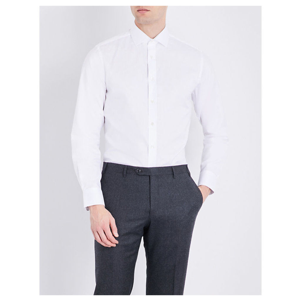 Smyth & Gibson Royal Oxford tailored-fit cotton shirt, Mens, Size: 16/01/1900 12:00:00, White