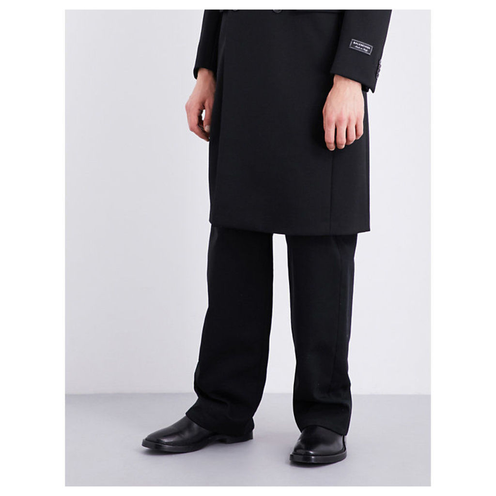 Dropped-crotch cotton-twill trousers