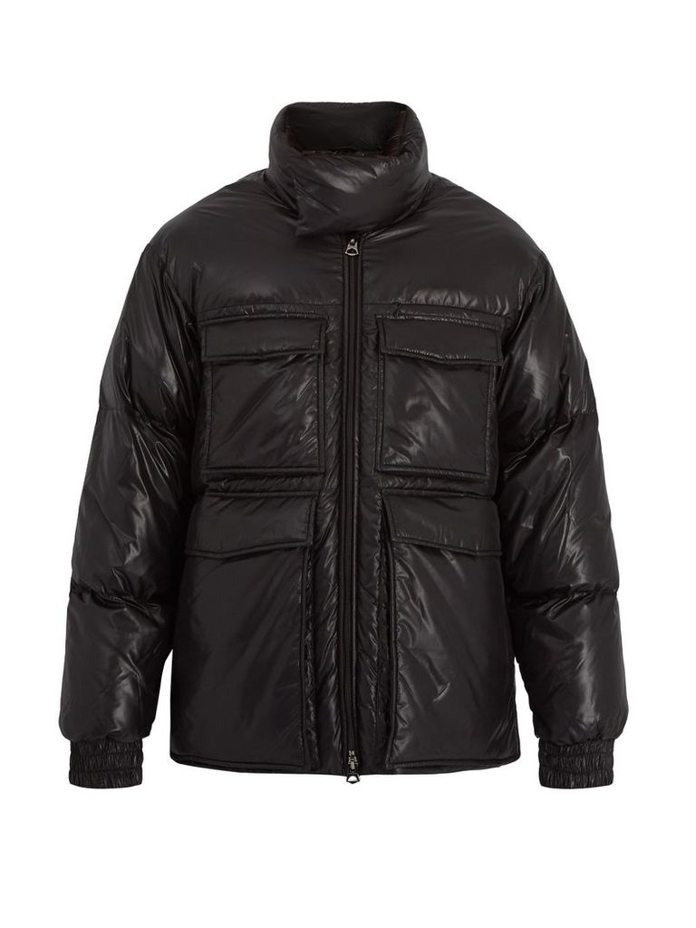 Minus water-repellent quilted-down coat