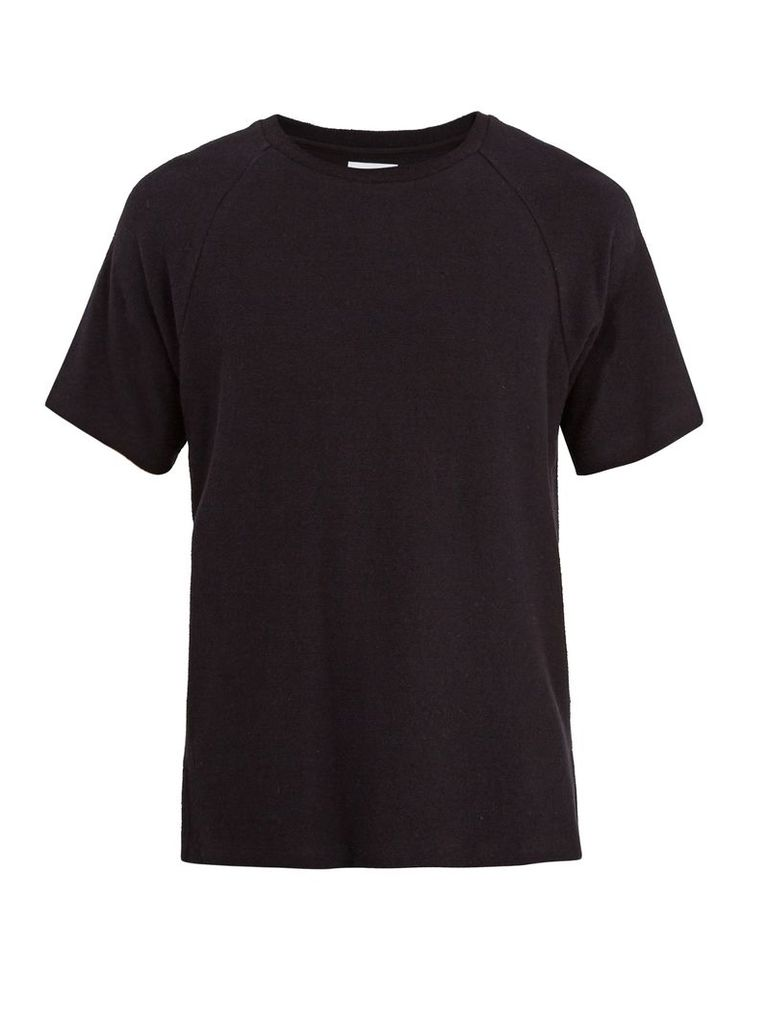 Crew-neck French terry-towelling cotton T-shirt