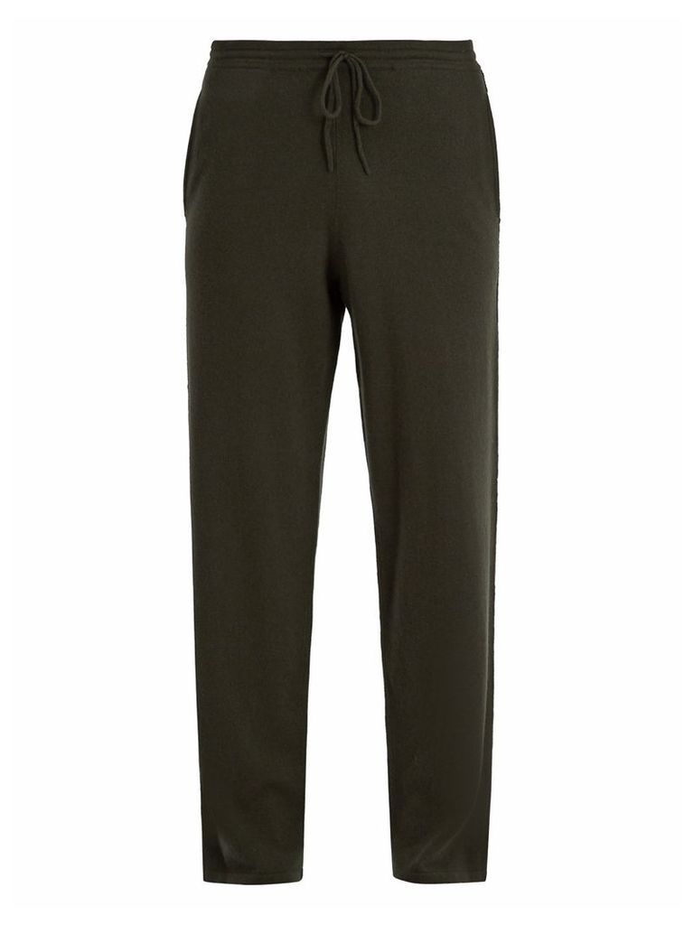 Drawstring-waist cashmere track pants