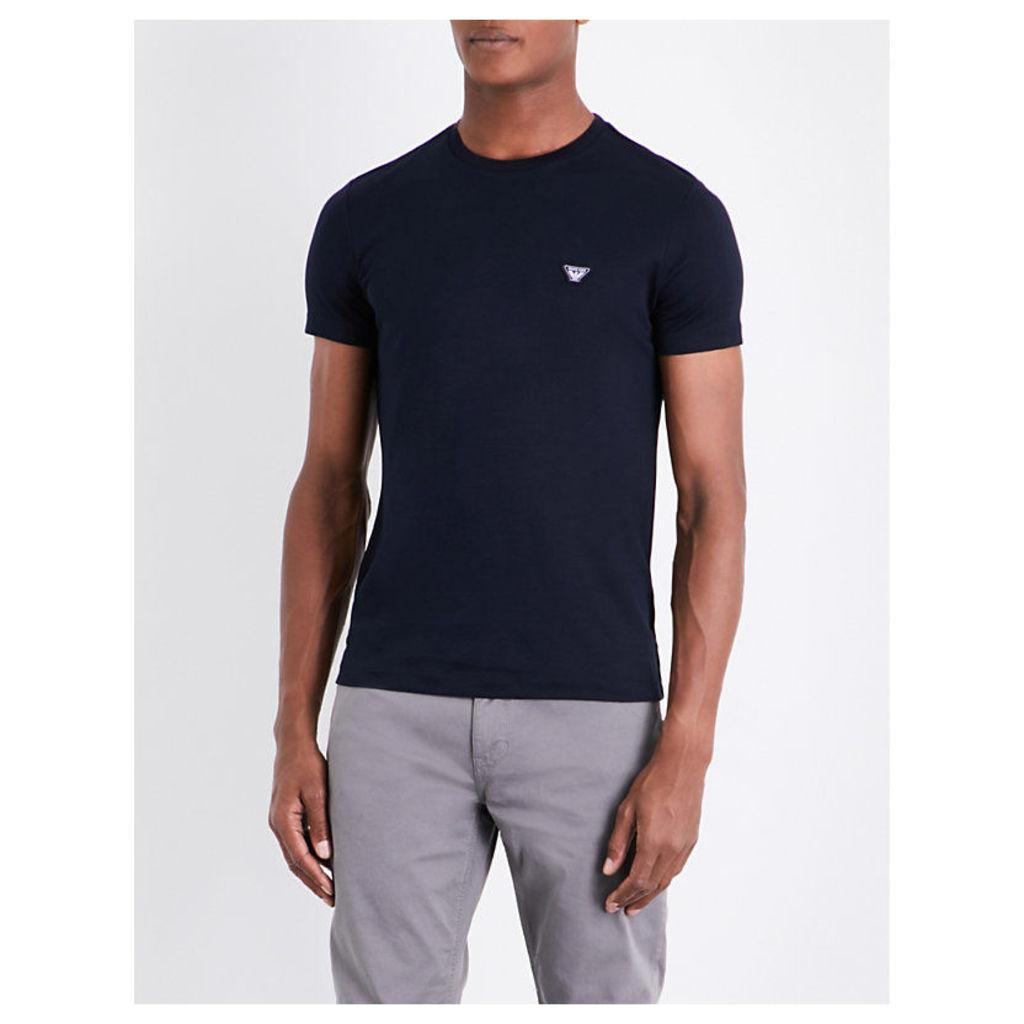 Eagle-patch cotton-jersey T-shirt