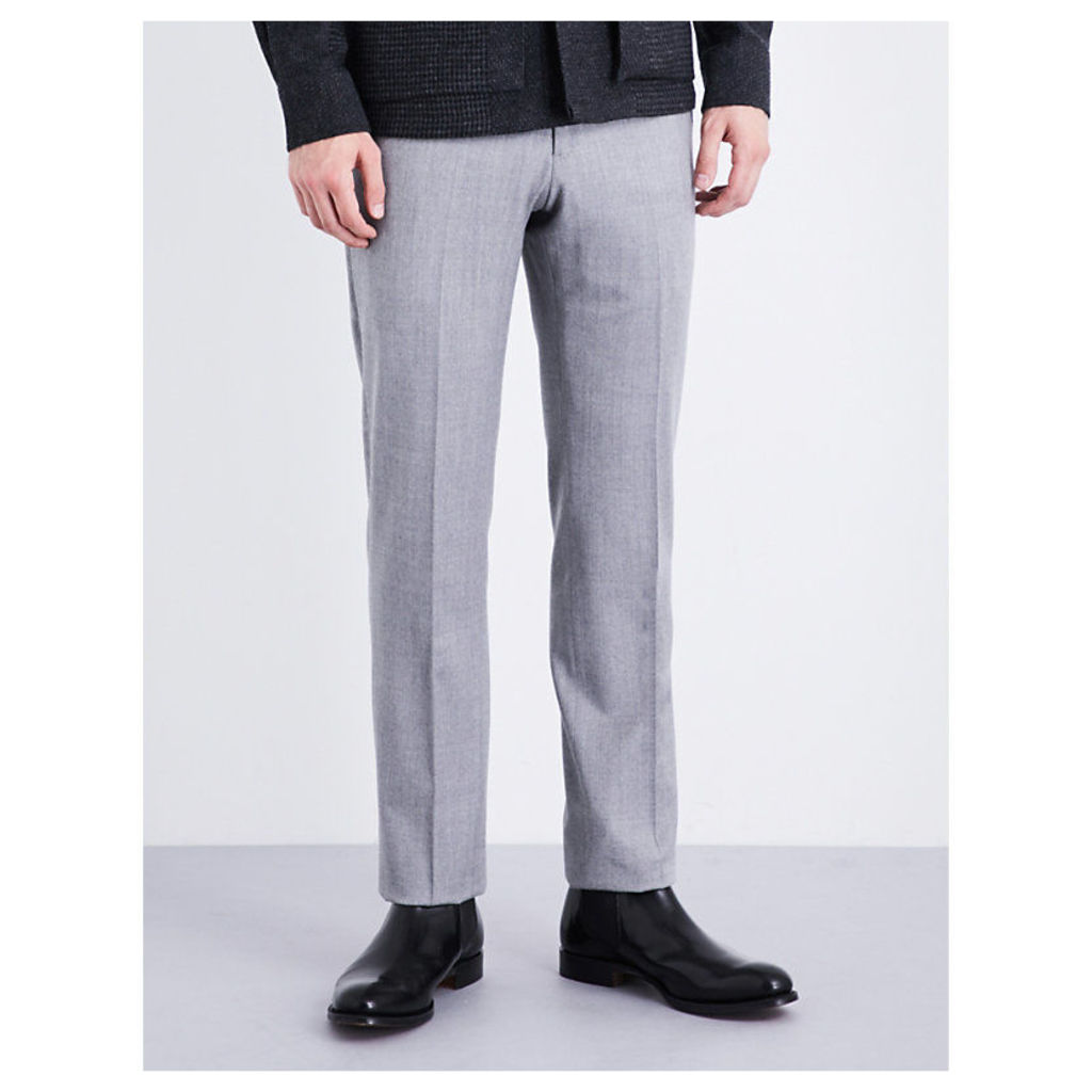 Modern-fit stretch-wool trousers