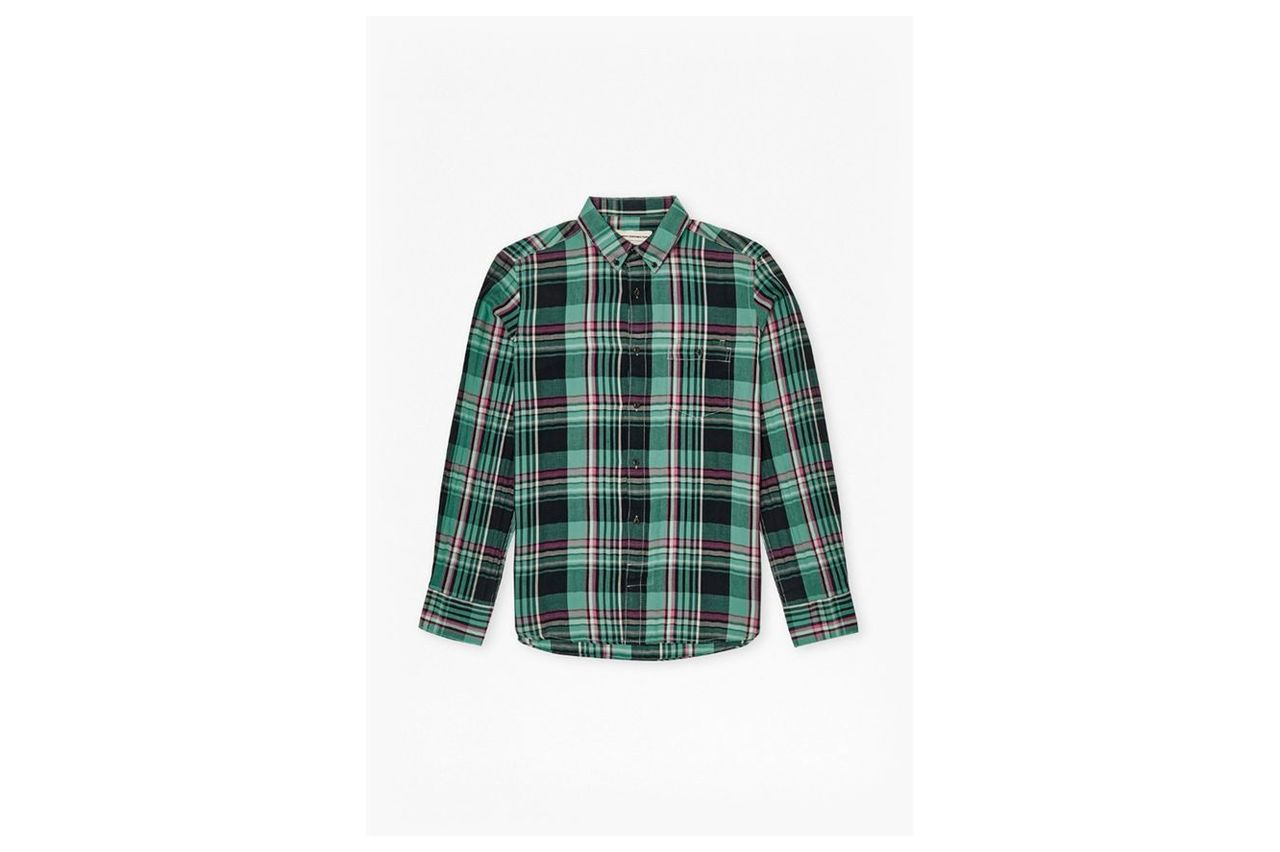 S16 Gasser Grindle Plaid Shirt  - beryl green
