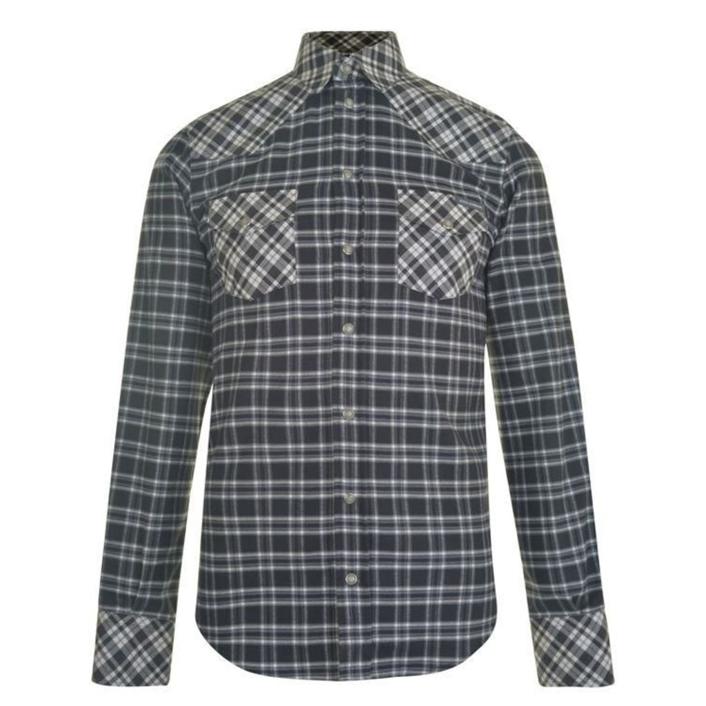 DOLCE AND GABBANA Flannel Check Shirt