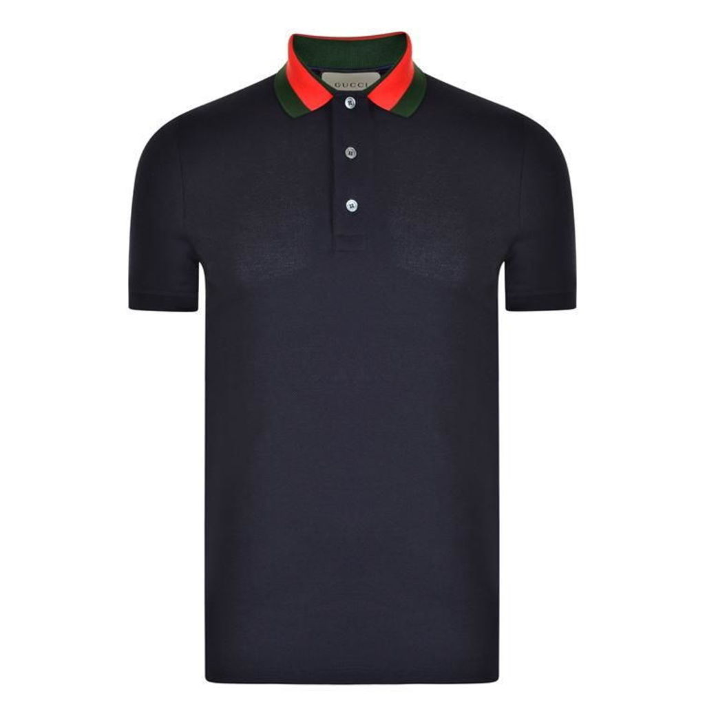GUCCI Insect Applique Polo Shirt