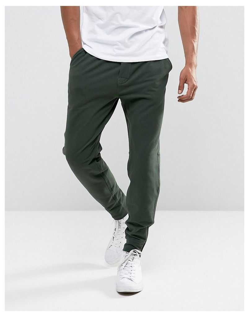 Abercrombie & Fitch Zip Hem Joggers Black Label Tapered Fit in Green - Green