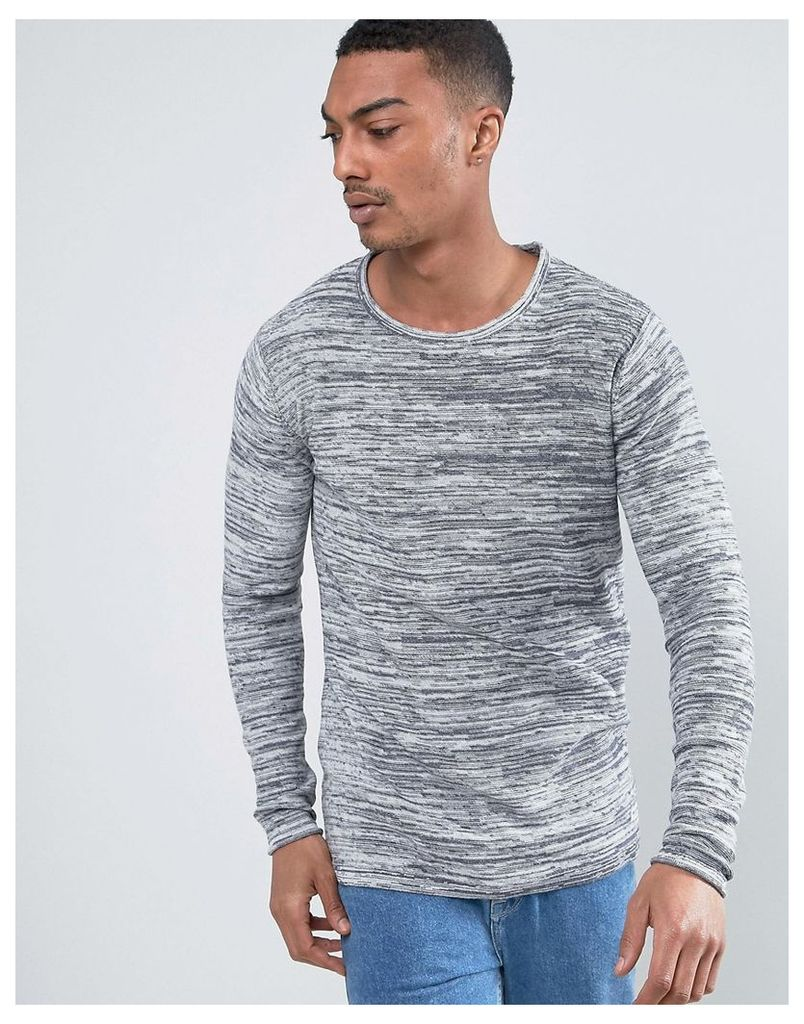 Only & Sons Lightweight Reverse Knit Top - Grey