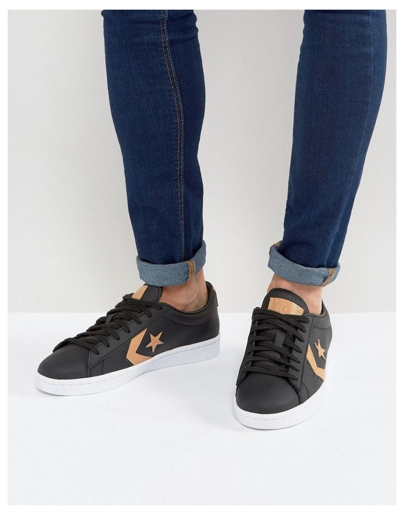 Converse PL 76 Ox Trainers In Black 155667C - Black