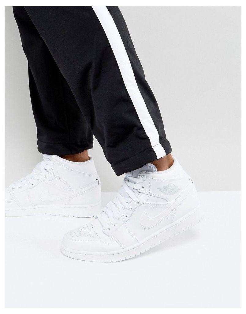 Nike Air Jordan 1 Mid Trainers In White 554724-104 - White