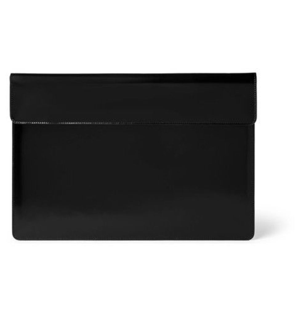 Common Projects - Polished-leather Pouch - Black