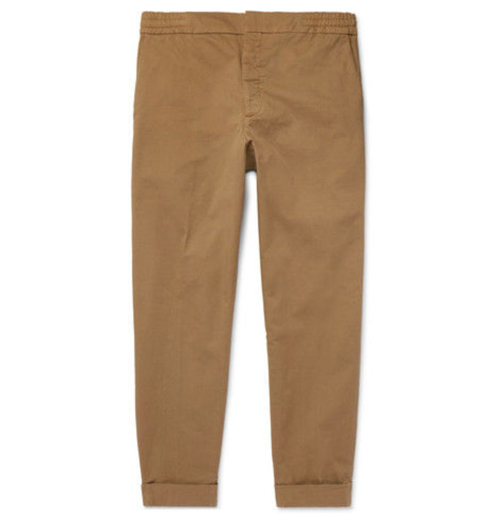 Barena - Cropped Stretch Cotton-twill Trousers - Beige