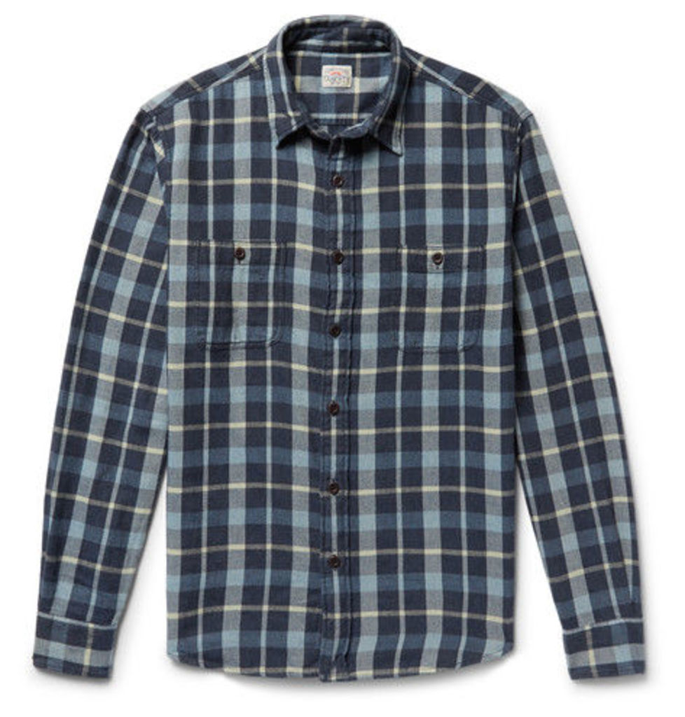 Faherty - Seasons Checked Cotton-flannel Shirt - Blue