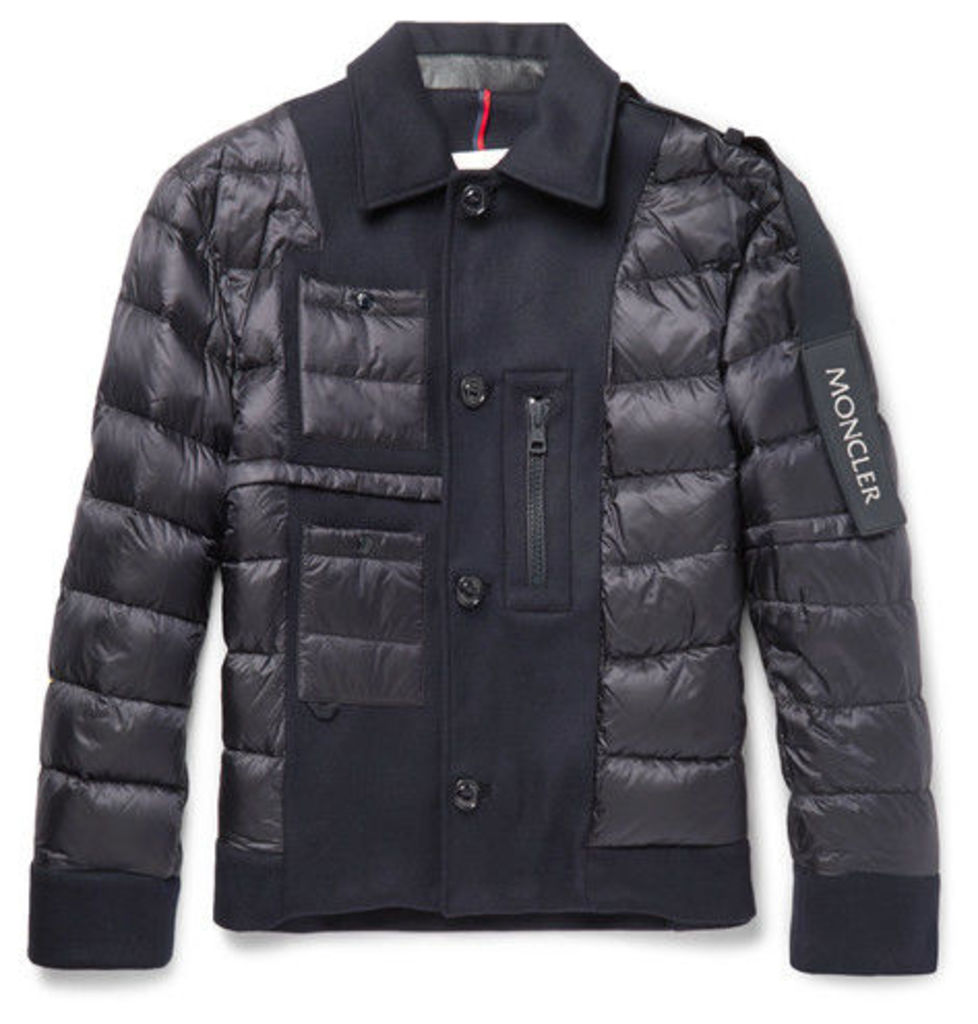 Moncler C - Padded Virgin Wool And Shell Down Jacket - Navy