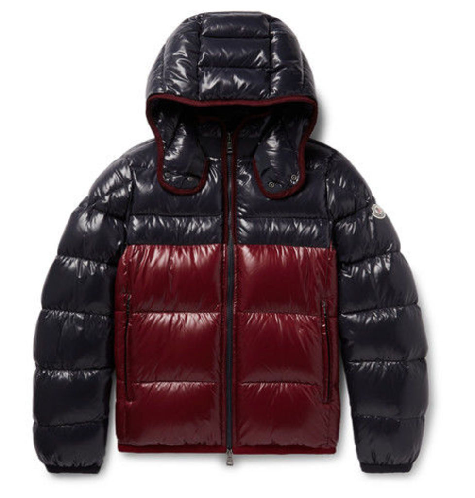 Moncler - Harry Colour-block Quilted Shell Hooded Down Jacket - Midnight blue