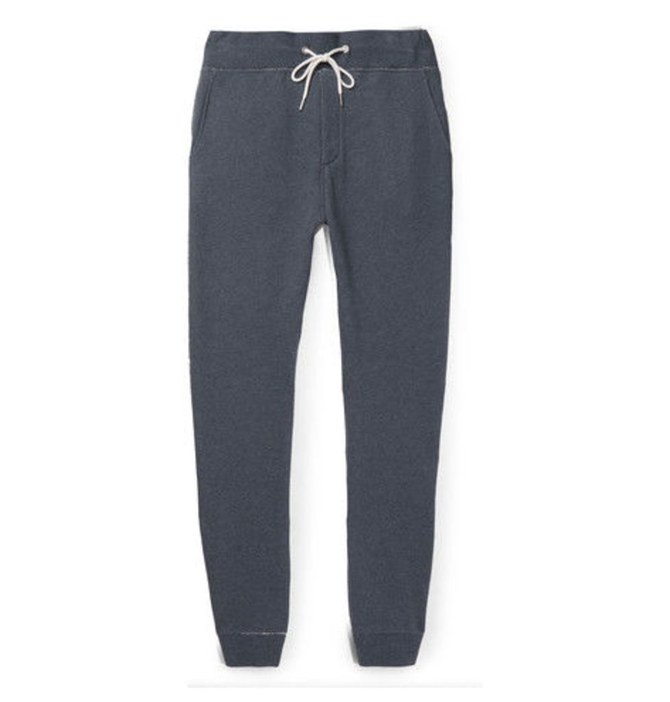 rag & bone - Standard Issue Slim-fit Tapered Cotton-terry Sweatpants - Navy