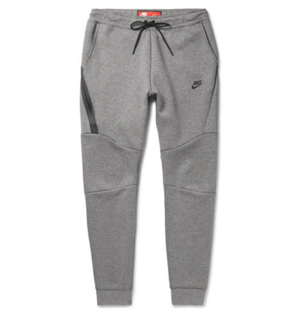 Nike - Slim-fit Tapered Cotton-blend Tech Fleece Sweatpants - Gray