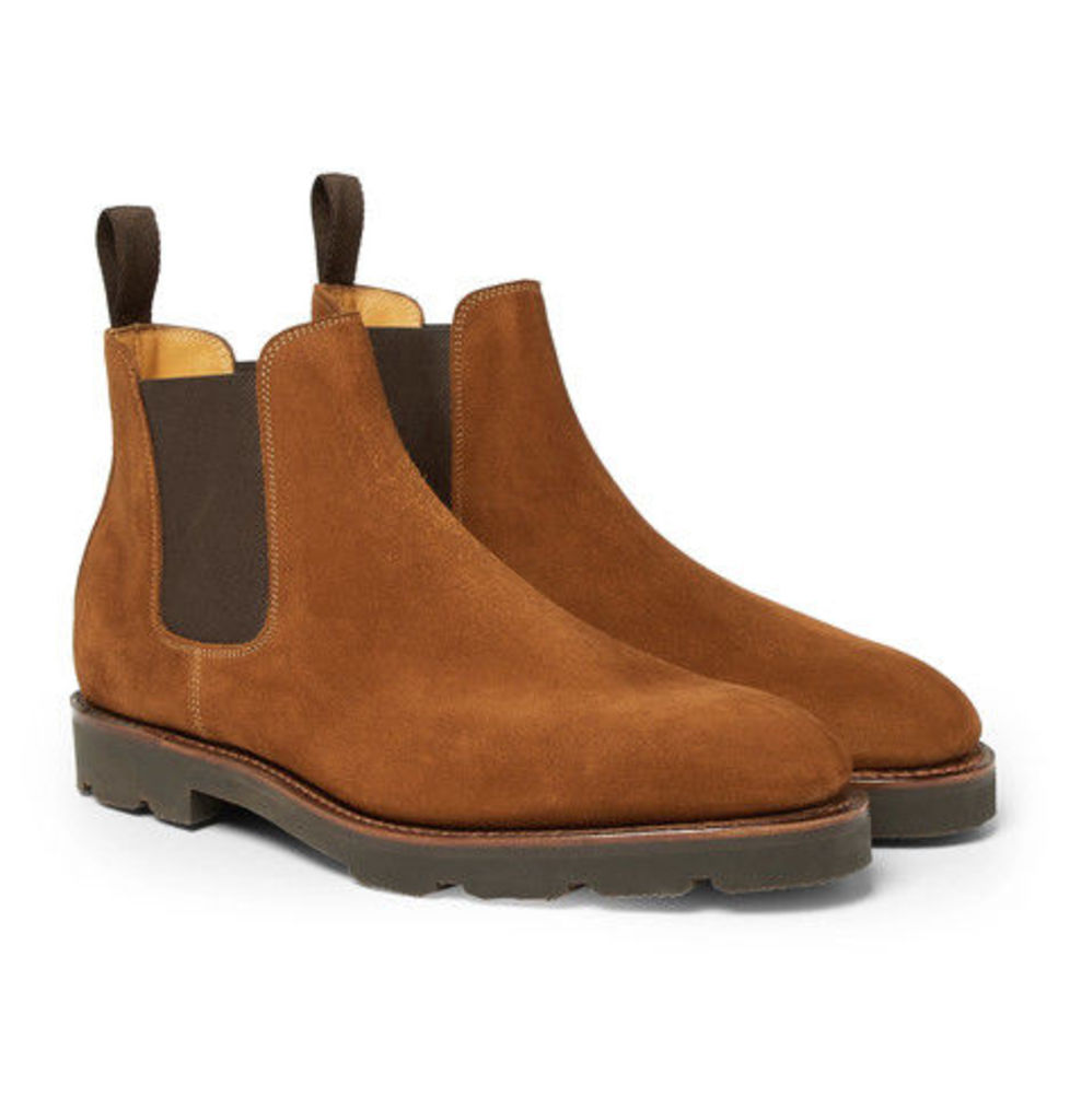 John Lobb - Lawry Suede Chelsea Boots - Brown