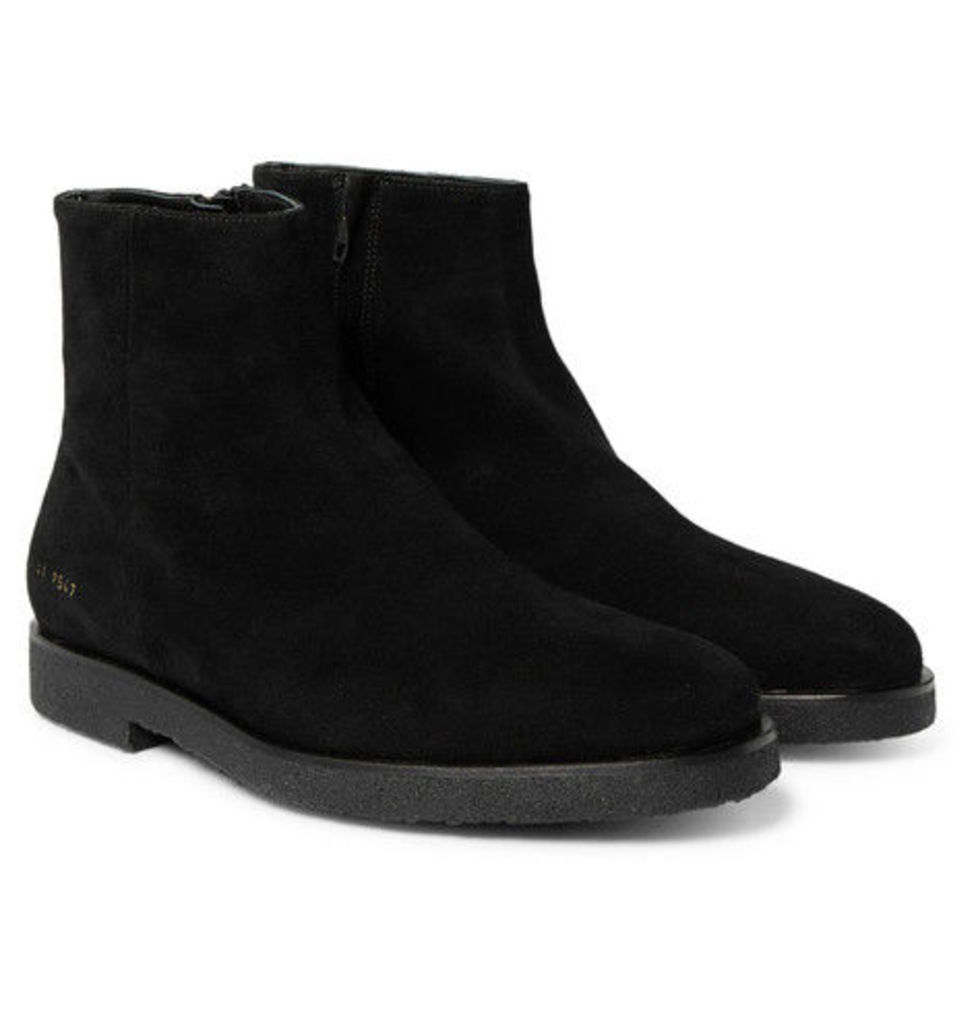 Common Projects - Suede Boots - Black