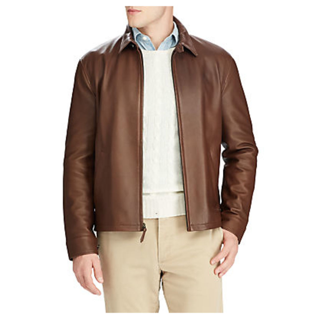 Polo Ralph Lauren Maxwell Leather Jacket, Bison Brown