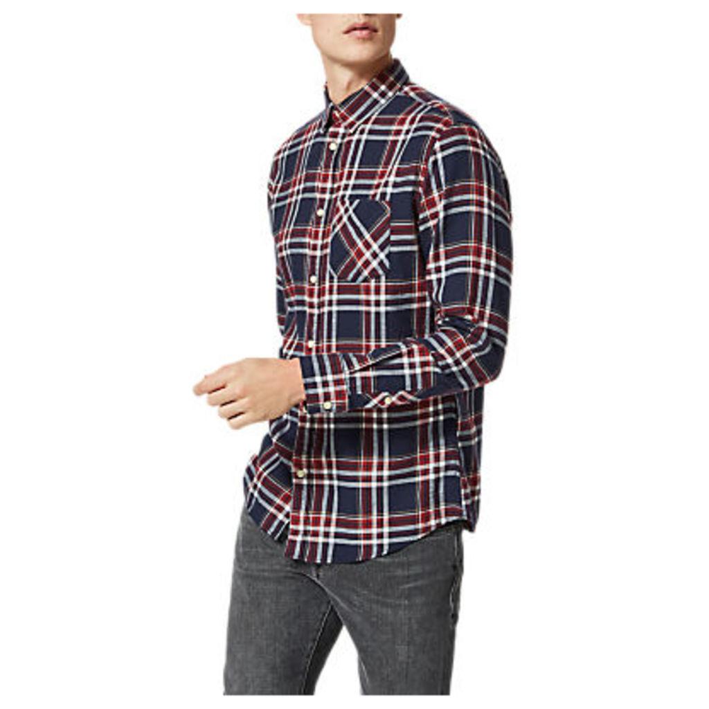 Selected Homme Shonedennis Check Shirt, Syrah Check