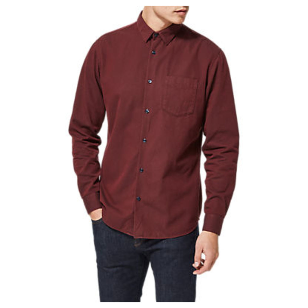 Selected Homme Shdonedante Long Sleeve Shirt, Tawny Port