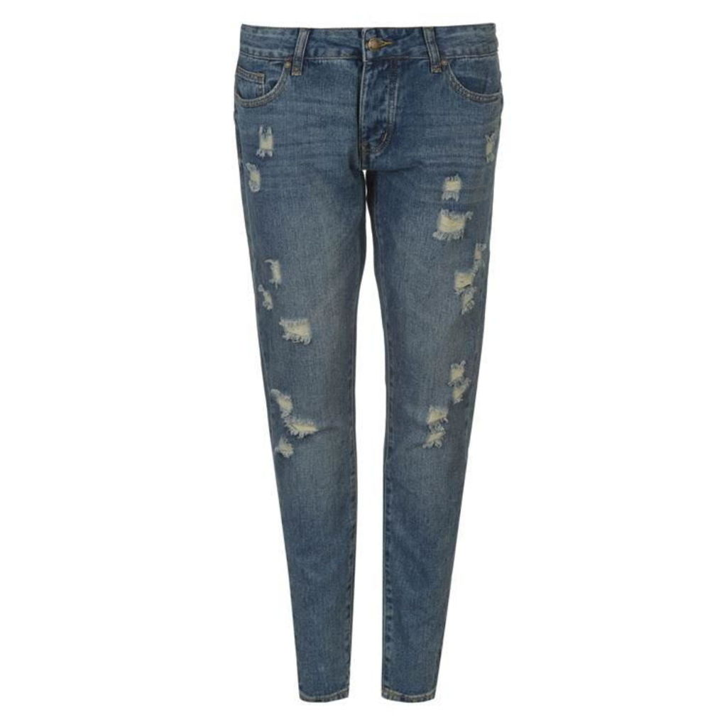Rock and Rags Distressed Boyfriend Jeans