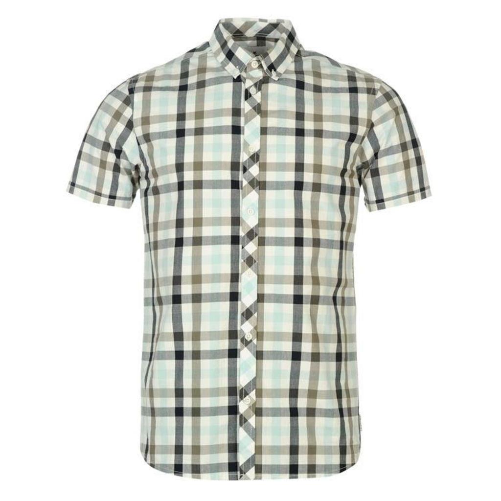 Soviet Large Gingham Mens Shirt