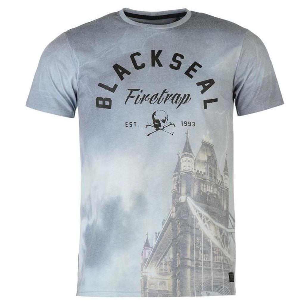 Firetrap Blackseal Tower Bridge T Shirt