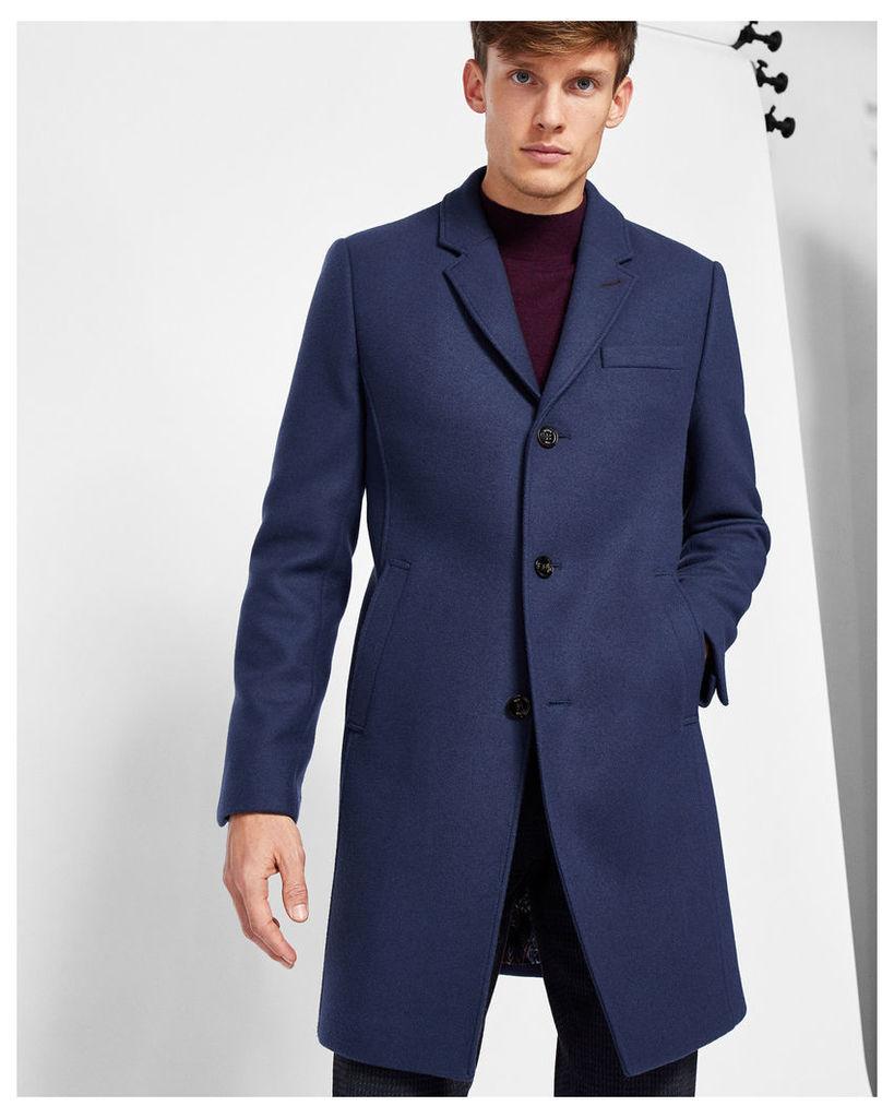 Ted Baker Wool-blend overcoat Blue