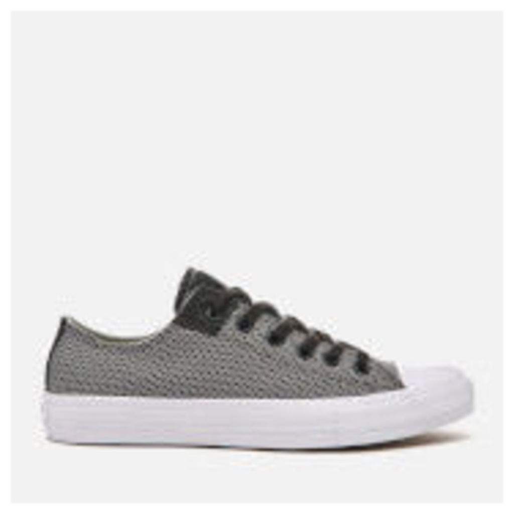 Converse Men's Chuck Taylor All Star II Ox Trainers - Storm Wind/Mouse/White