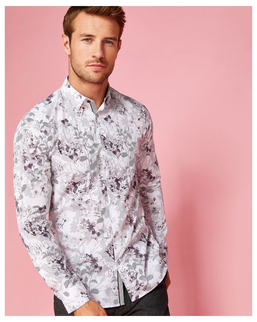 Ted Baker Floral cotton shirt White