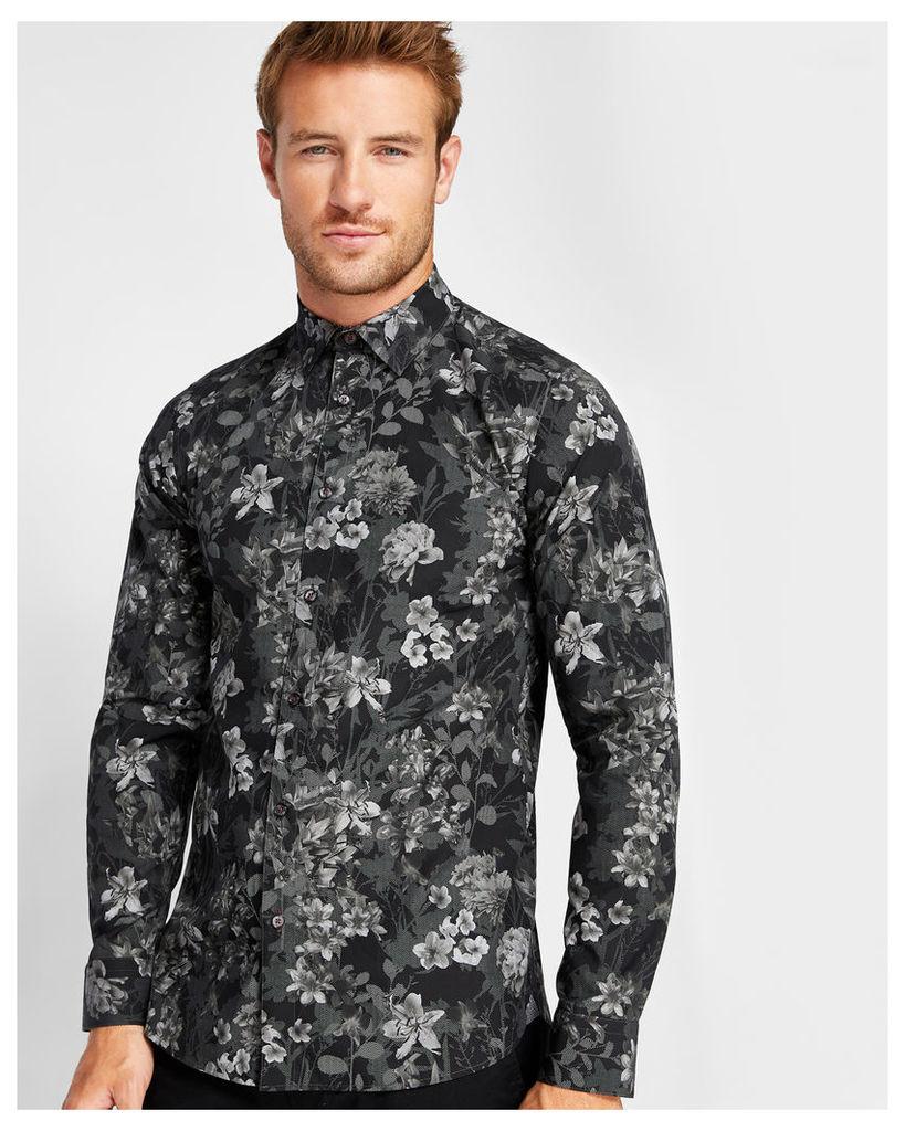 Ted Baker Floral cotton shirt Black