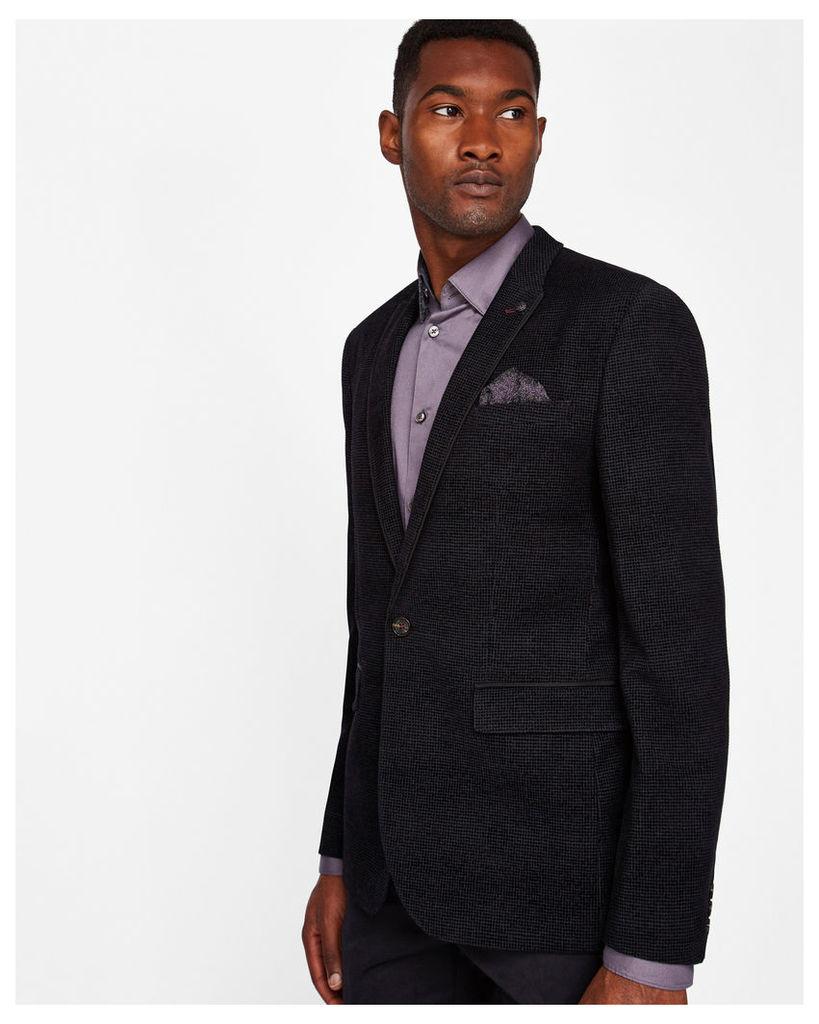 Ted Baker Flocked velvet blazer Black