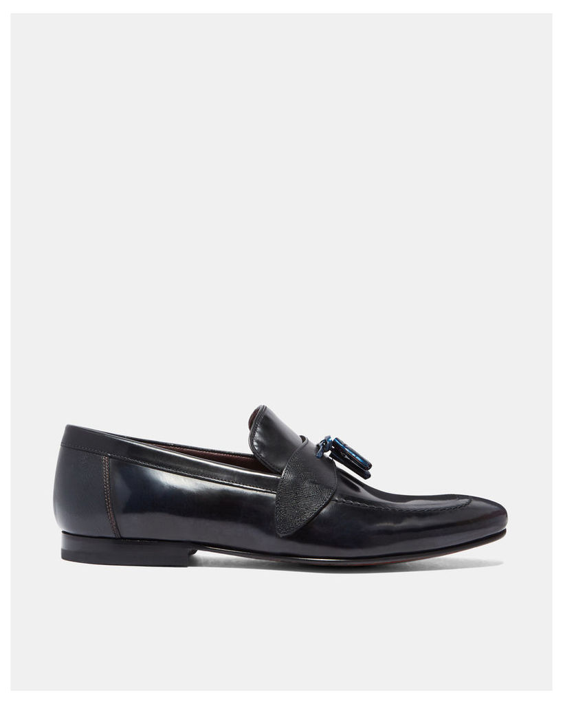 Ted Baker Tasselled leather loafers Navy