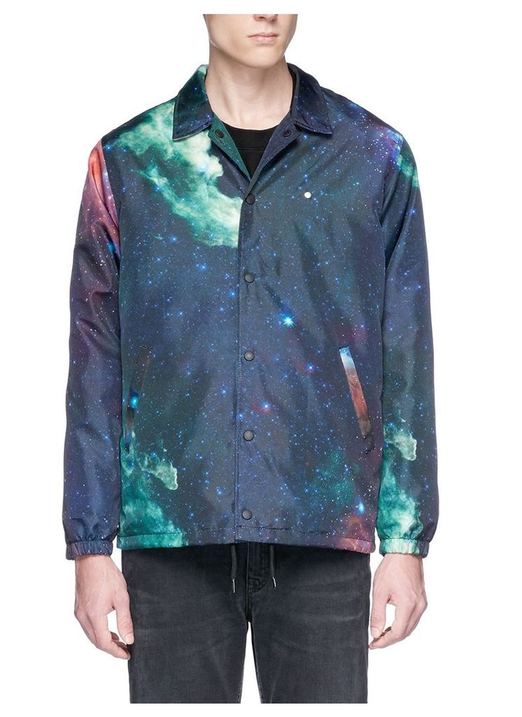 Galaxy print coach jacket
