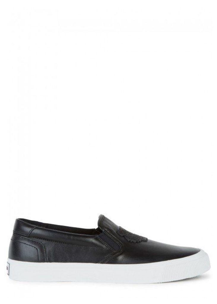 KENZO Black Tiger Leather Skate Shoes - Size 9