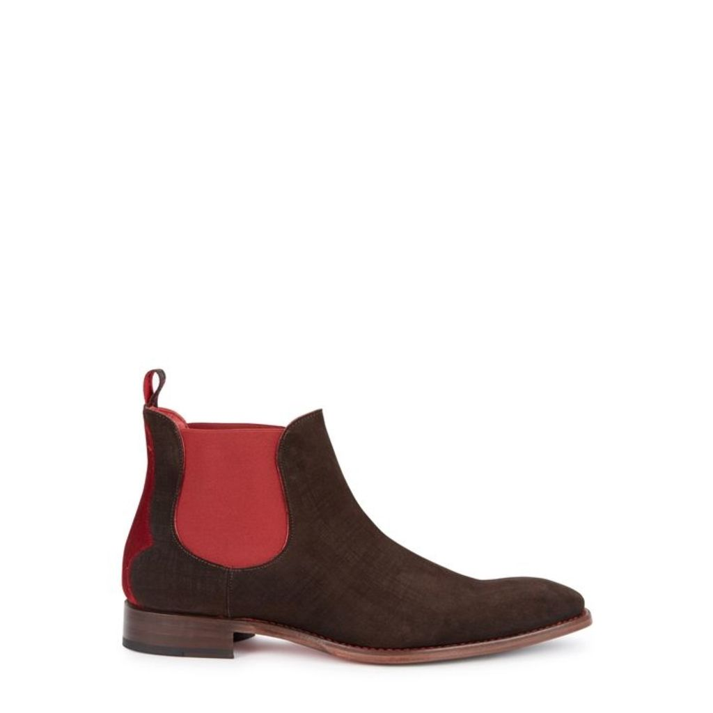 Jeffery West Horrorshow Brown Suede Chelsea Boots - Size 10