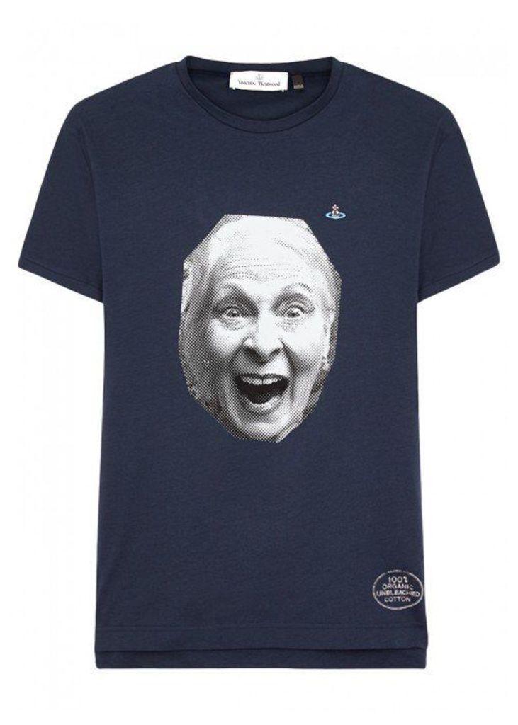 Vivienne Westwood Navy Printed Cotton T-shirt - Size M
