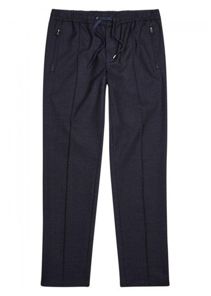 Dolce & Gabbana Navy Drawstring Wool Blend Trousers - Size W32