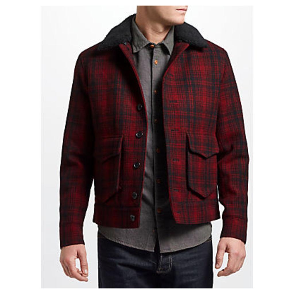 JOHN LEWIS & Co. Wool Check Lumber Jacket, Red