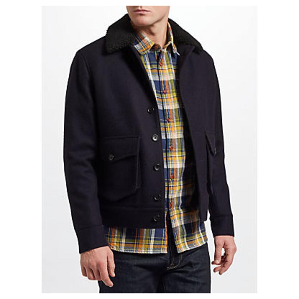 JOHN LEWIS & Co. Wool Lumber Jacket, Navy