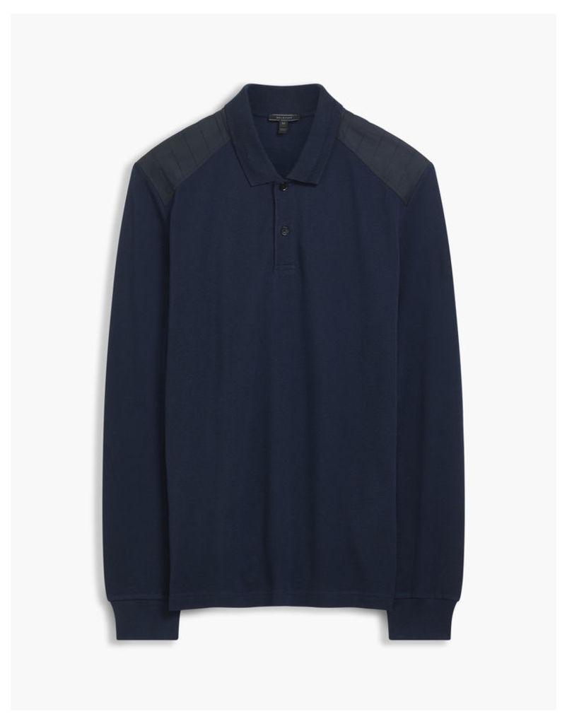 Belstaff Ashperton Long Sleeve Polo Blue