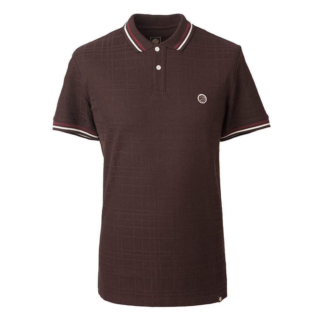Pretty Green Men's Tipped Polo Shirt - Dark Brown - XS