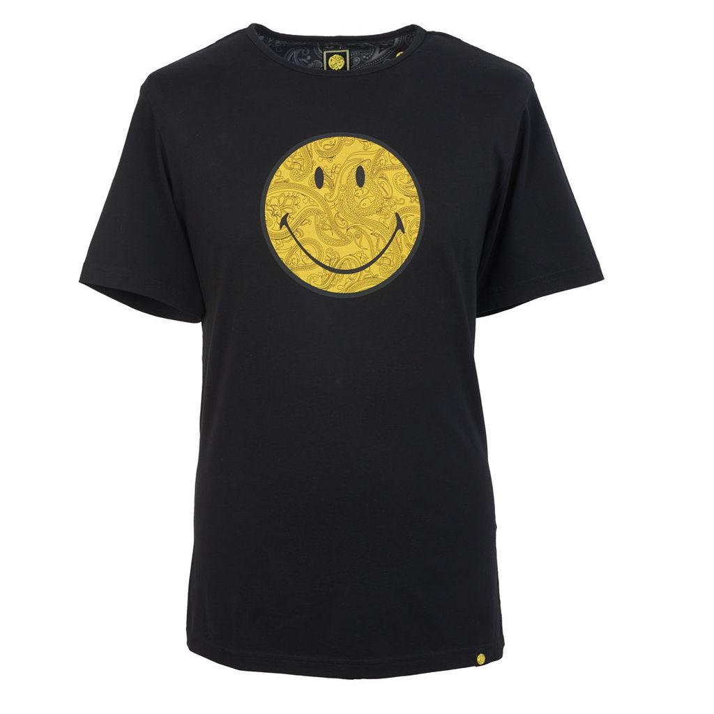 Pretty Green Men's Smiley Logo Print T-Shirt - Black - L