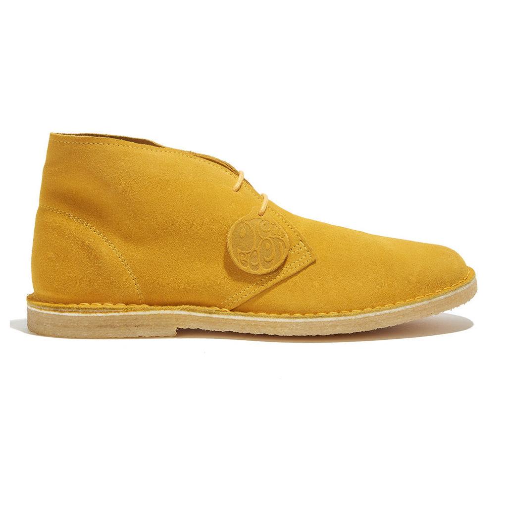 Pretty Green Men's Suede Desert Boot - Yellow - Uk 8