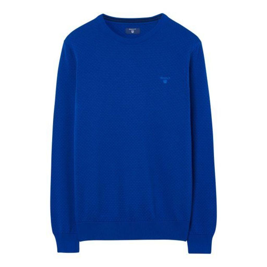 Dot Texture Jumper - Yale Blue